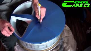 How-to by Wrapping Rims in Matte Blue Vinyl COLORCHANGE ( Polep alu kol ) 2013