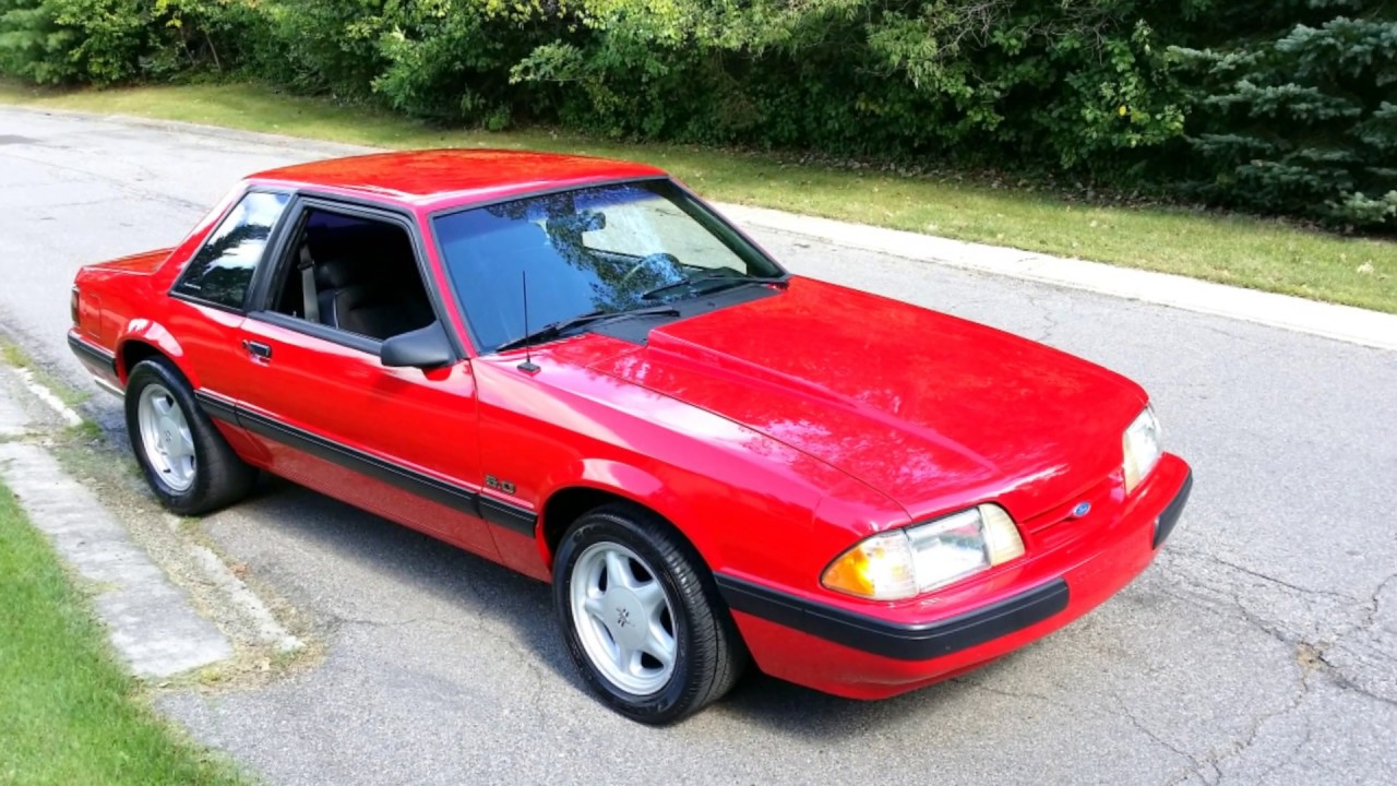 1991 ford mustang lx video