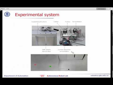 ShanghAI Lectures 2013 - Visual Servo Control of Cable Driven Soft Robotic Manipulator