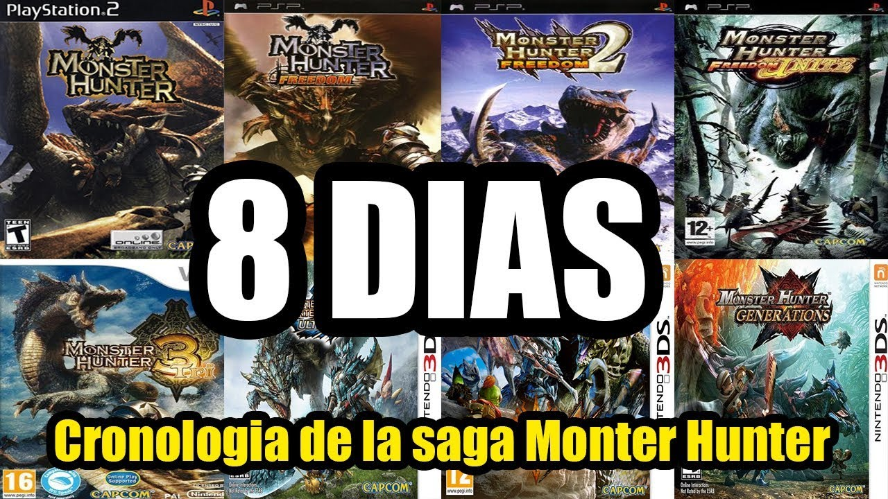8 DIAS!! CRONOLOGIA DE LA SAGA MONSTER HUNTER | DEIJA CLAN by  ElDescifrador27