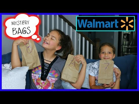 16 MYSTERY BAGS CHALLENGE ' WALMART EDITION ' SISTER FOREVER