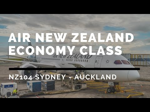 Air New Zealand NZ104 Sydney - Auckland with Koru and SilverKris Lounge flight report ニュージーランド航空搭乗記