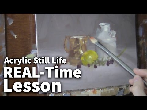 Copper & Ceramic - Acrylic Painting Lesson | Still Life
