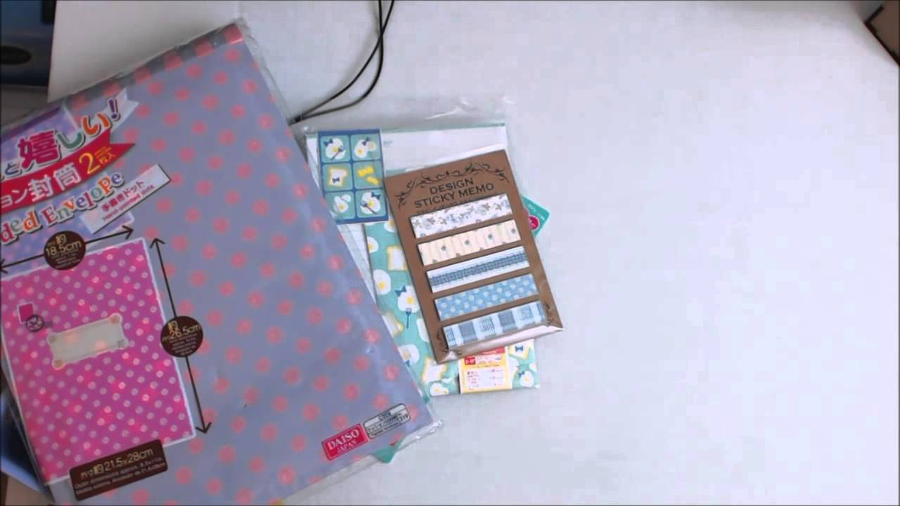 My First Daiso Haul Scrapbook And Planner Cuties On The Cheap Youtube