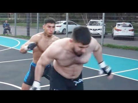 Тамаеву плохо после драки на улице Бой Тамаев vs Дерзкий Тик Токер Глухой нокаут Полный бой