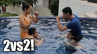 ¡NOS ENFRENTAMOS 2vs2 EN PELEAS ACUÁTICAS! Ft. Antronixx, Machika, Barbie, etc.