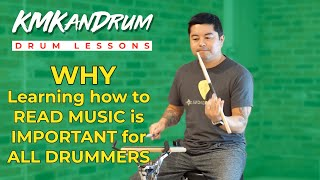 Learn to Read Music: Why is it So Important for Drummers? KMKanDrum Lesson 3 with *Timestamps*