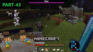 MINECRAFT GAMEPLAY | RAIDERS TRIED TO ATTACK OUR VILLAGE & WE LOST TWO IRON GOLEM#43
