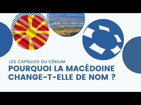 Pourquoi la Macédoine change t-elle de nom?