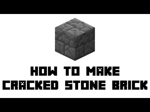 Minecraft Survival: How To Make Cracked Stone Brick
