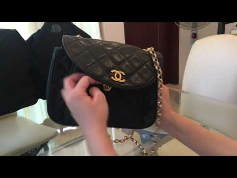 989ed40a8726 What fits in Vintage CHANEL Square Mini & Review