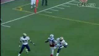 CFL Richardson Stabs the Pigskin for the TD- Great Catch!