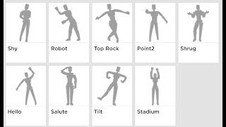 Roblox NEW EMOTES - Shy, Top rock, and Robot.