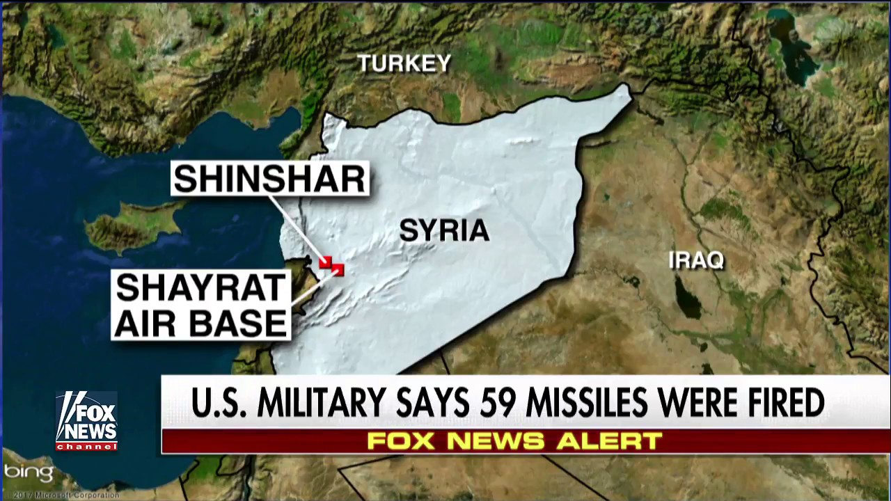 US Uses Tomahawk Missiles In Strike Against Syria FoxNews YouTube - Fox news us map