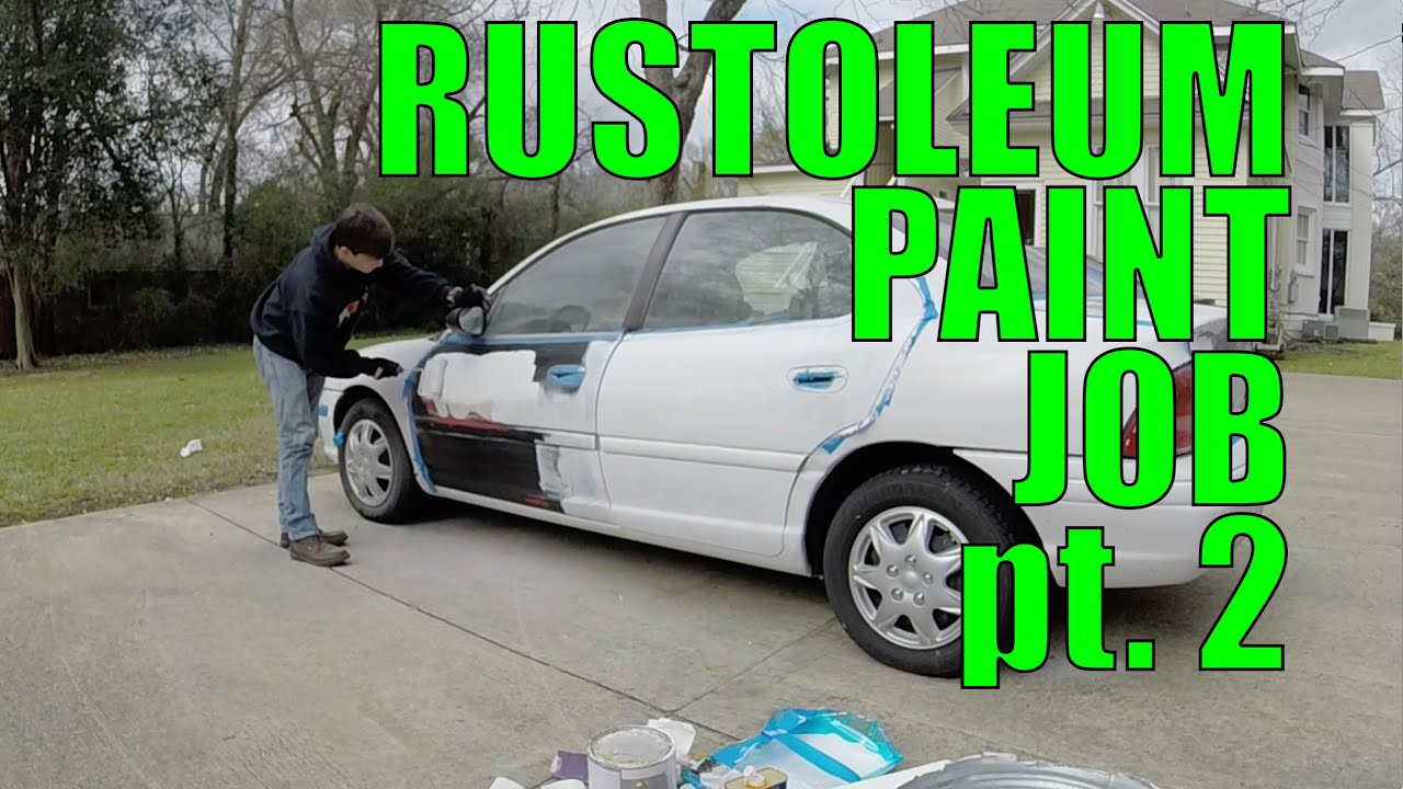 Diy Car Paint : Diy car projects rustoleum paint job pt youtube
