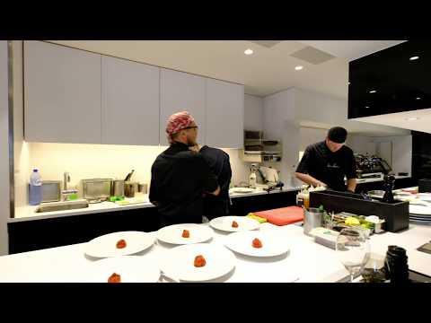 Kitchen Service At 2 Michelin Star Restaurant Bon Bon In Brussels, Belgium