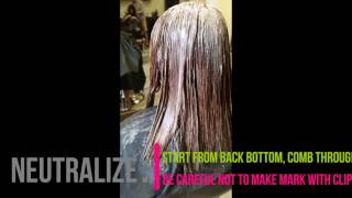 how to do straight perm on damaged bleached hair at hair avenue