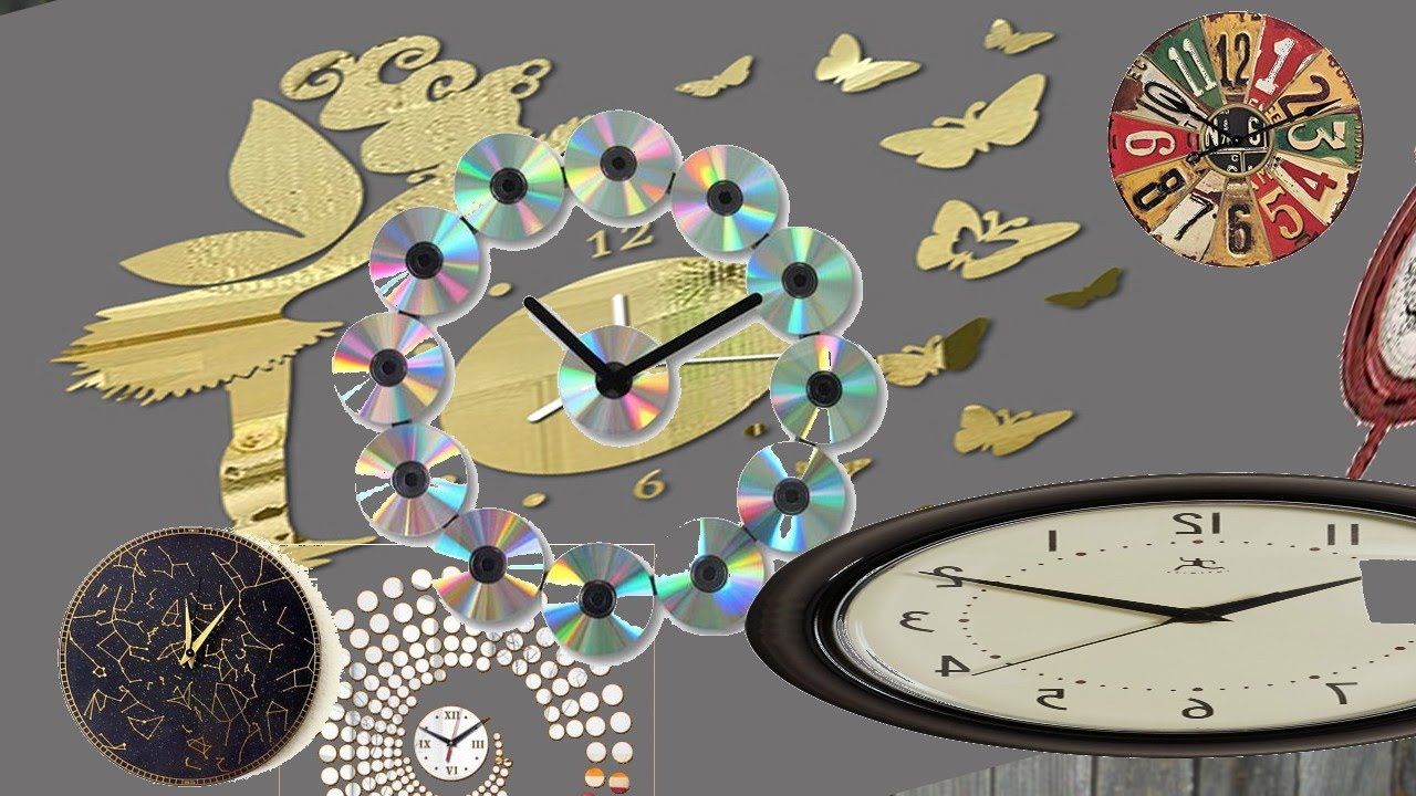 Home Wall Clock Ideas: Recycled Craft Ideas For Home & Decorative Wall Clocks