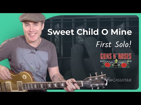 How to play Sweet Child O' Mine [#3 FIRST SOLO] Guns 'n' Roses – Guitar Lesson Tutorial (CS-010)