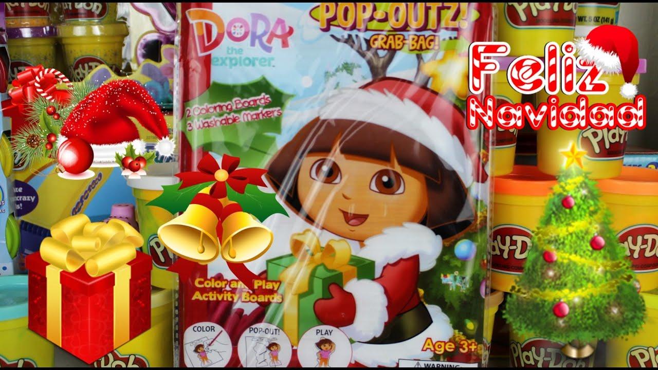 Juguetes de Navidad de Dora la Exploradora| Colores y Stickers de ...