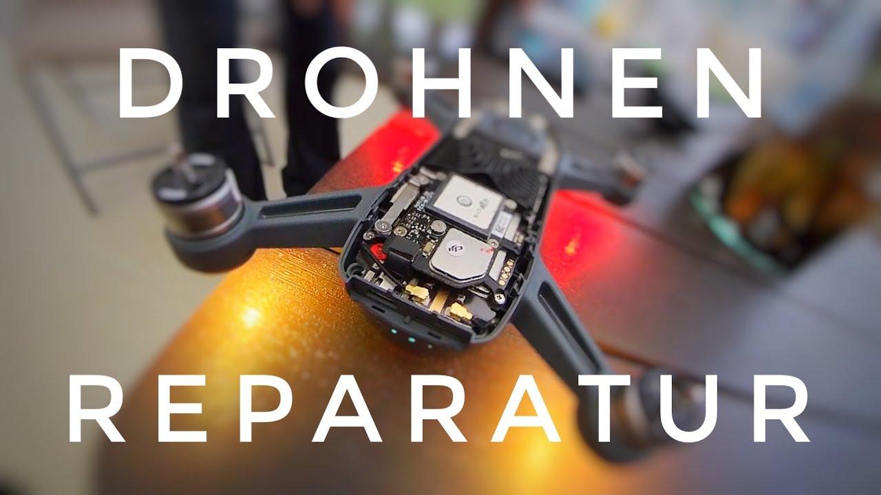 Dji Drohnen Reparatur nach Drohnen Crash und Drohnen Rettung mit Mavic Mini