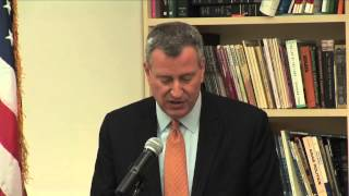 "Mayor-elect Bill de Blasio Delivers ""Tale of Two Cities"" speech at The New School"