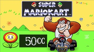 Super Mario Kart (SNES) [Part 14] - 50cc Flower Cup [Donkey Kong Jr.] スーパーマリオカート