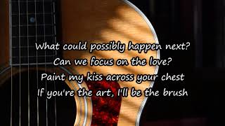 Bad liar acoustic guitar karaoke version lyrics on screen