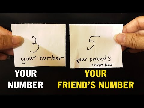 Amazing Magic Trick With Numbers
