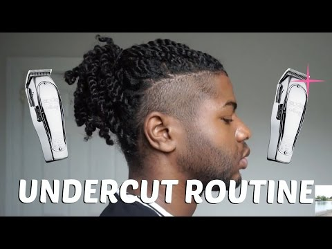 shaved-sides-undercut--maintenance-routine-|-natural-hair-care