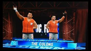 WWE 2k17 xbox 360/ps3 The Colons entrance