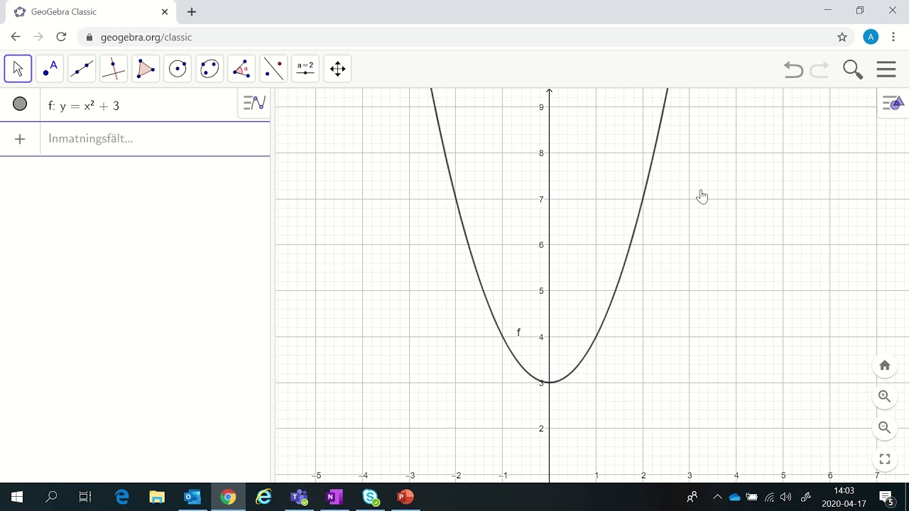 introduktion kapitel 6 Geogebra