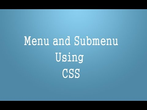 Menu And Submenu Using CSS