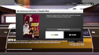NBA 2K19 20TH ANNIVERSARY SHAQUILLE O'NEAL PACK OPENING