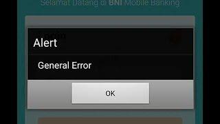 Muncul Alert General Error Tidak Bisa Akses BNI Mobile Banking