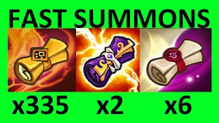 2 Legendary Scrolls, 6 Light and Dark, 335 Mystical Scroll Summon Montage