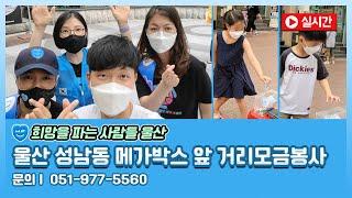 울산 성남동 메가박스 앞 거리모금