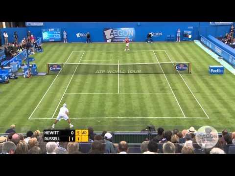 Lleyton Hewitt v Michael Russell Match Highlights