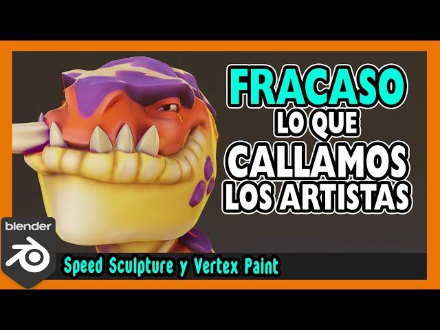 💔 Como enfrentar el FRACASO 💔  Escultura digital blender 2.9   Magnaomega