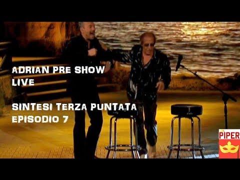 """Adrian live la serie evento episodio 3 pre show: Celentano canta con Biagio Antonacci """"Mio fratello"""""""