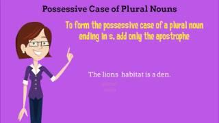 Singular & Plural Possessive Nouns