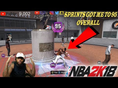 I GOT TO 95 OVERALL BY RUNNING SPRINTS!💯 *NOT CLICKBAIT*   NBA 2k18 99 OVERALL GRIND