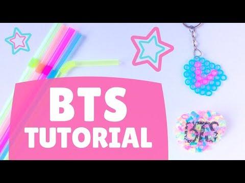 【KPOP DIY】 BTS Straw Key-chain ♥! (Eng/Esp)