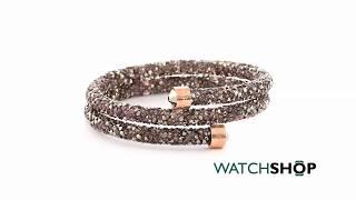 Ladies Swarovski Rose Gold Plated Crystaldust Bracelet (5348102)