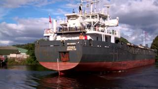 Athos Cargo Ship Docking Harbour Perth River Tay Perthshire Scotland