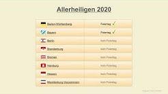 Allerheiligen 2020 - Datum - Feiertage Deutschland 2020