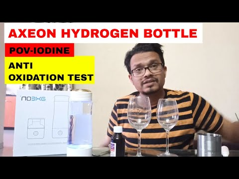 Axeon Molecular Hydrogen Water Bottle Anti Oxidant Testing