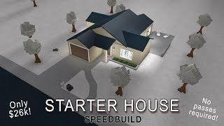 Roblox Bloxburg   Starter House (No gamepasses! - 26k)