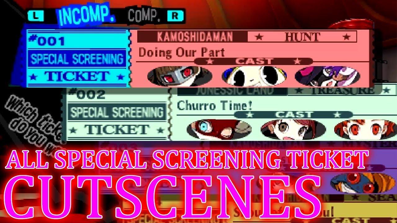 Persona Q2 New Cinema Labyrinth ALL Special Screening Ticket CUTSCENES