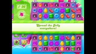Candy Crush Jelly Saga Level 1221 (1 booster used)